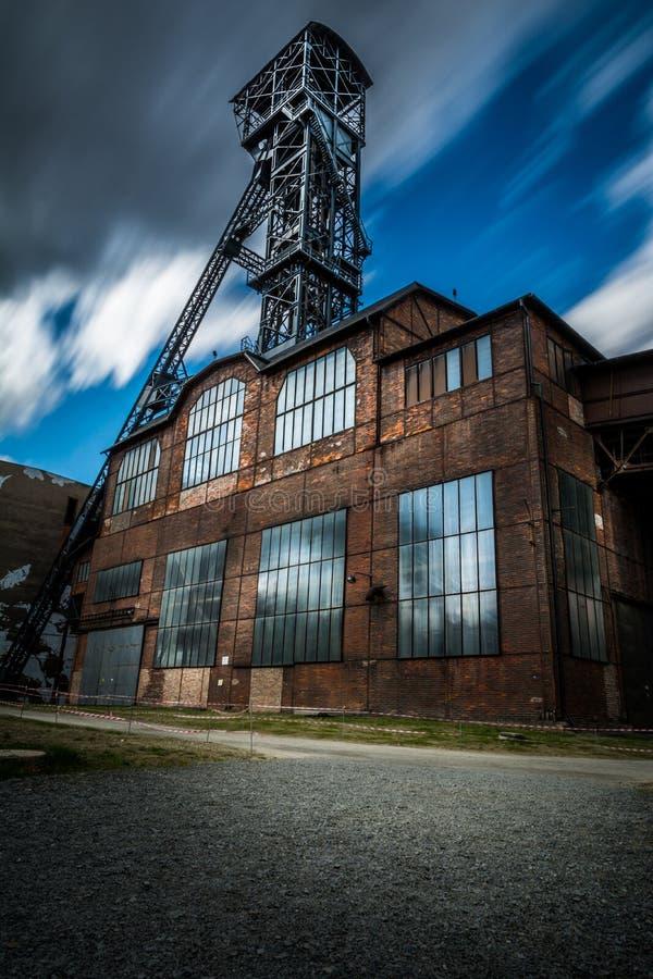 Старая шахта Hlubina Острава стоковые фотографии rf
