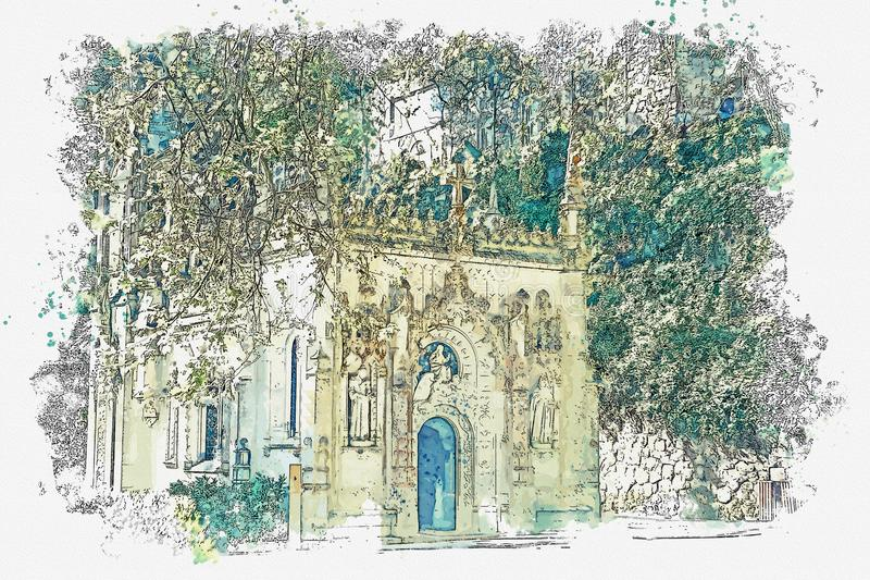 Старая Masonic церковь бесплатная иллюстрация