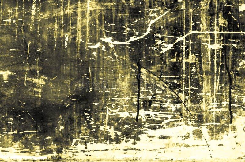 Старая scratchy деревянная доска с цветами и мел главным образом желтеют стоковое изображение