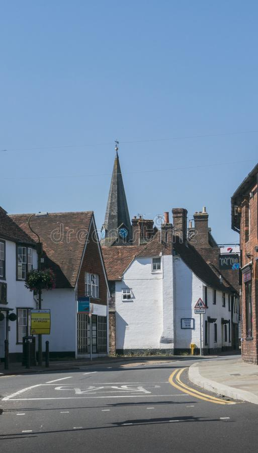Старинная улица в Uckfield, восточном Сассекс, Великобритании стоковое фото