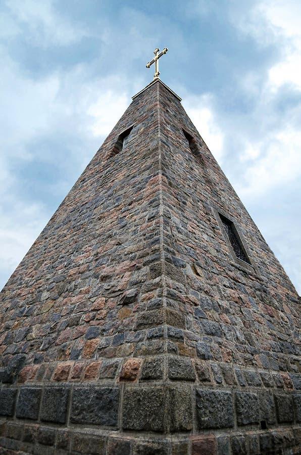 Старинное здание каменной пирамиды, на предпосылке голубого неба стоковые фото