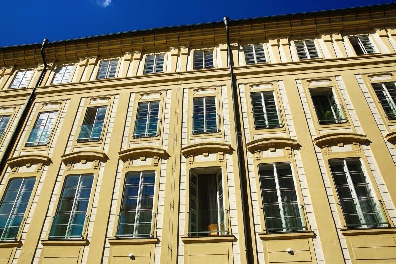 Старинные здания зоны замка Праги, Праги, чехии стоковая фотография rf