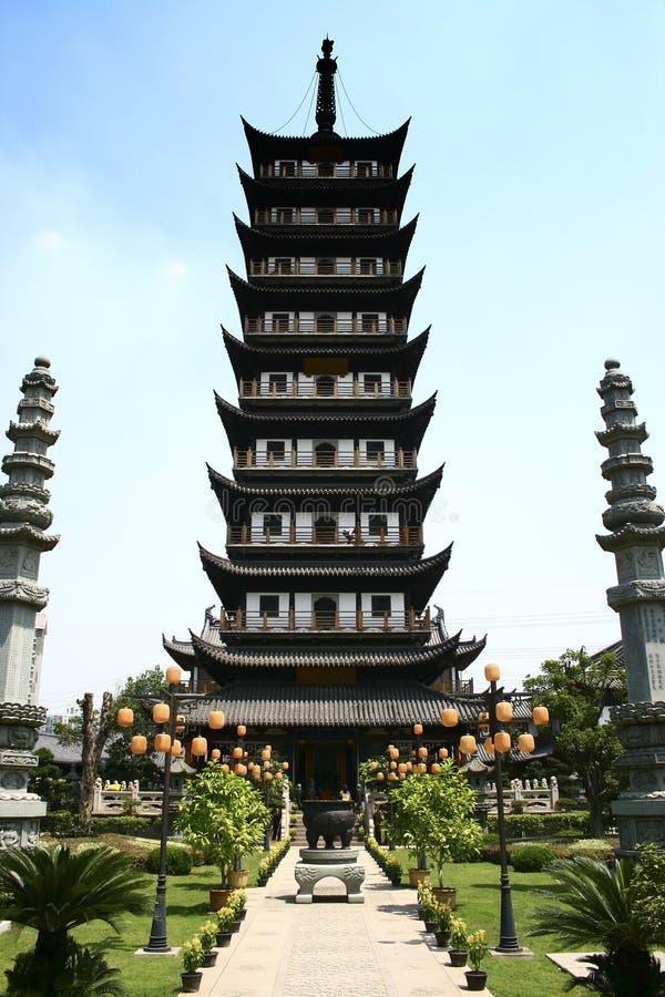 стародедовская башня zhen виска gu фарфора стоковые фото