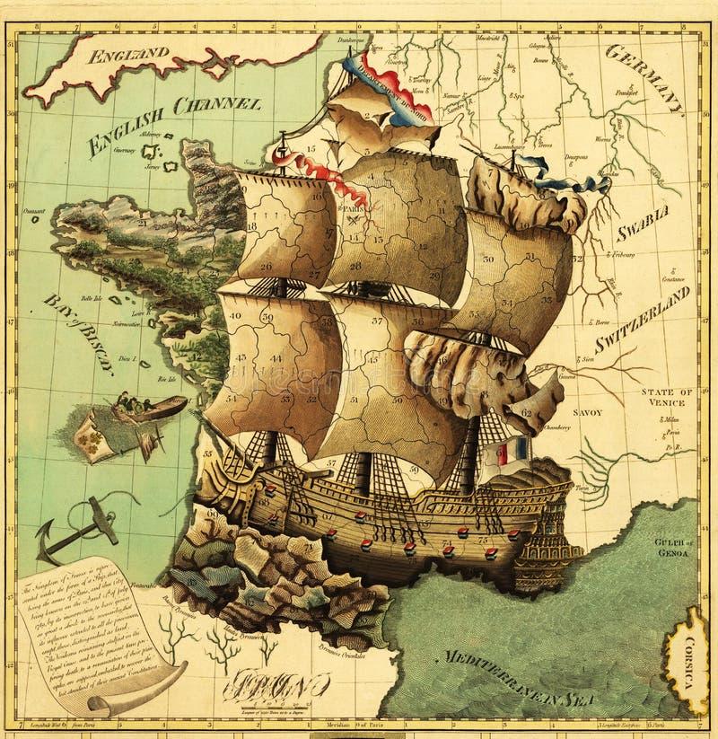 стародедовская карта иллюстрация штока