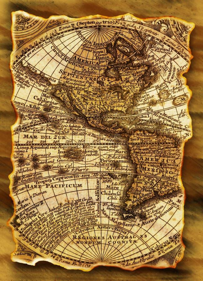 стародедовская карта grunge стоковые изображения rf