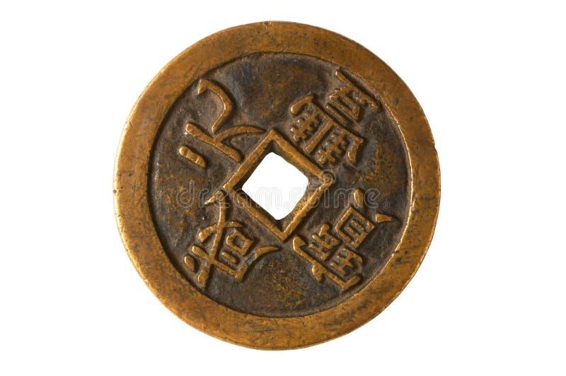стародедовская китайская монетка стоковые фото