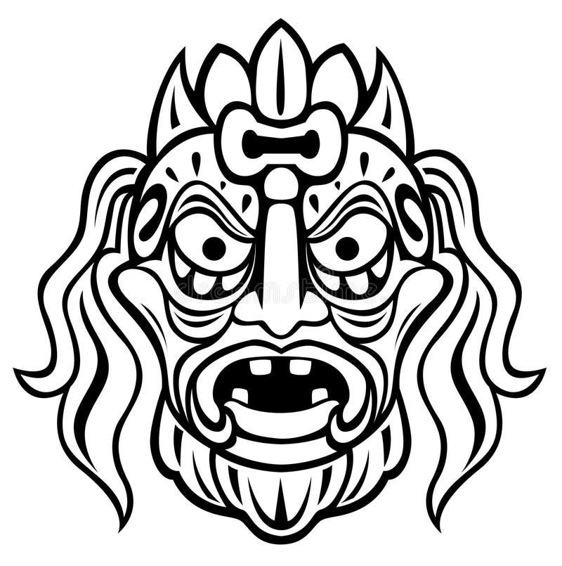 стародедовская маска иллюстрация вектора
