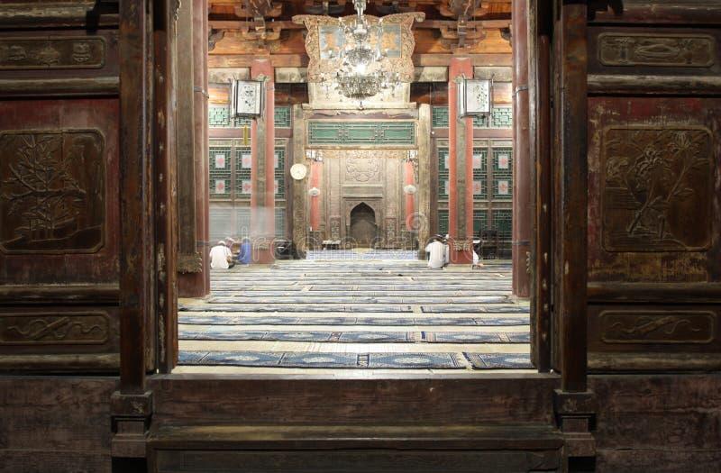 стародедовская мечеть xian дверей стоковое фото