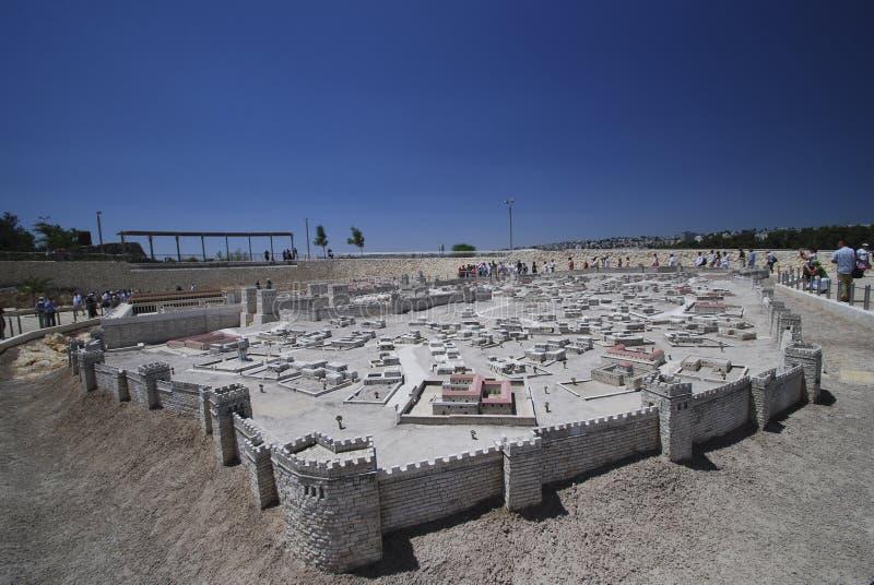 стародедовская модель Иерусалима стоковая фотография