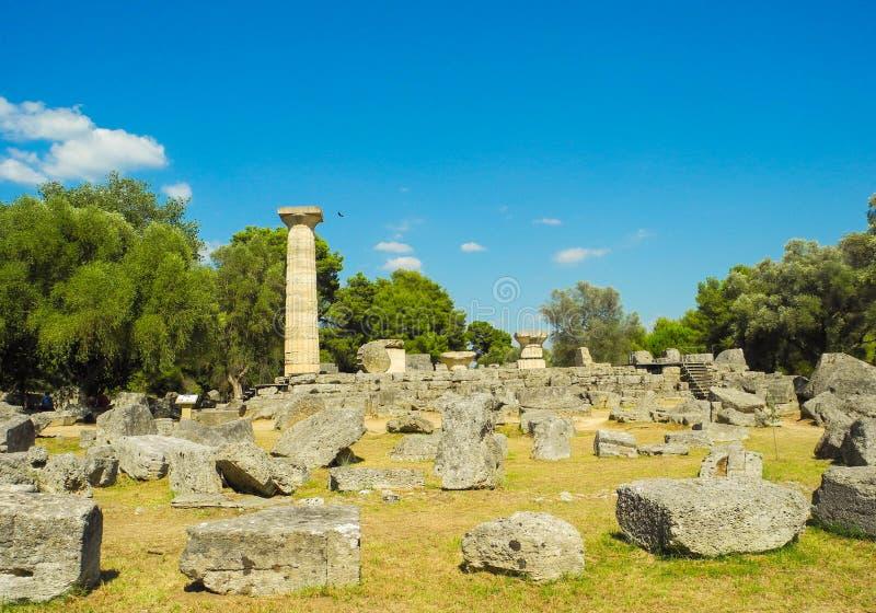 стародедовская Олимпия Греции стоковое фото