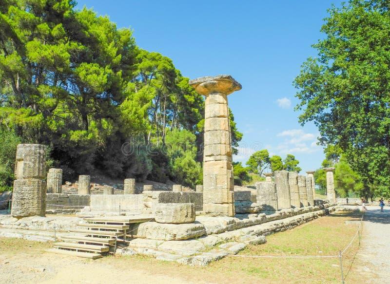 стародедовская Олимпия Греции стоковые фото