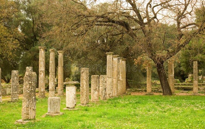 стародедовская Олимпия колонок archea стоковое фото