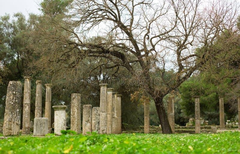 стародедовская Олимпия колонок archea стоковые фотографии rf
