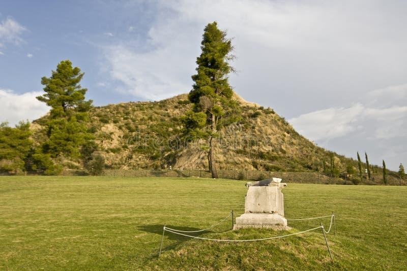 стародедовская Олимпия kronios холма Греции стоковое фото