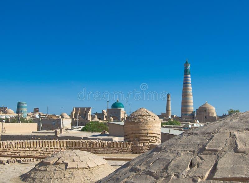 стародедовская панорама uzbekistan khiva города стоковое изображение rf