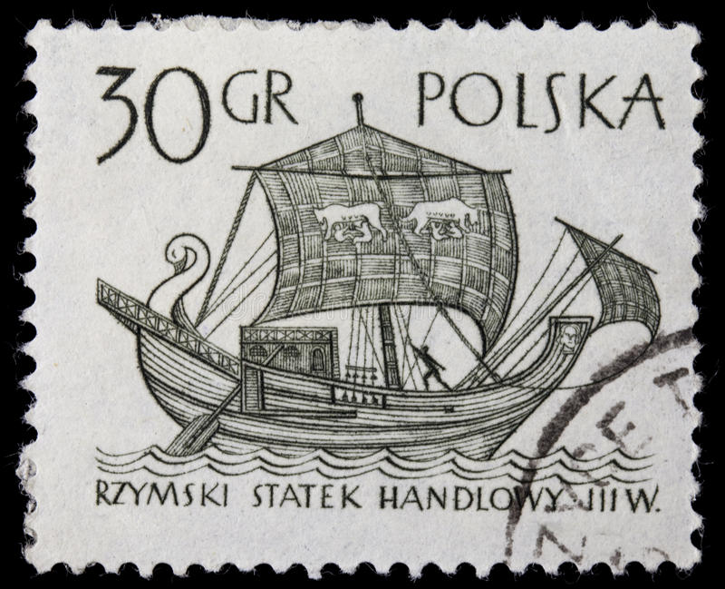 стародедовская римская торговля корабля стоковая фотография rf