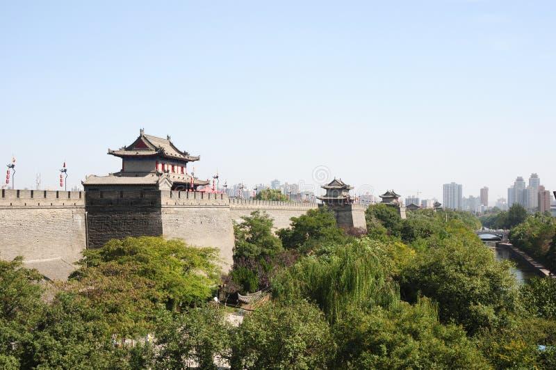 стародедовская стена xian города фарфора стоковые фотографии rf