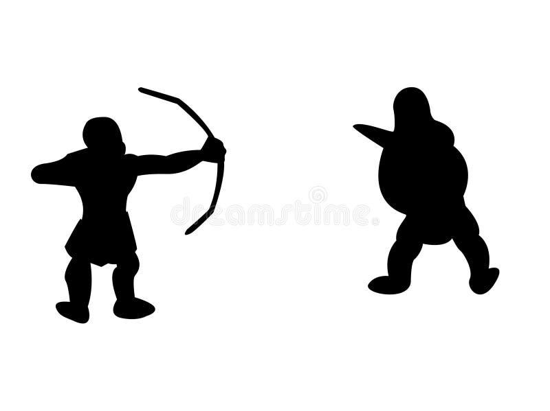 стародедовские воины стоковое изображение rf
