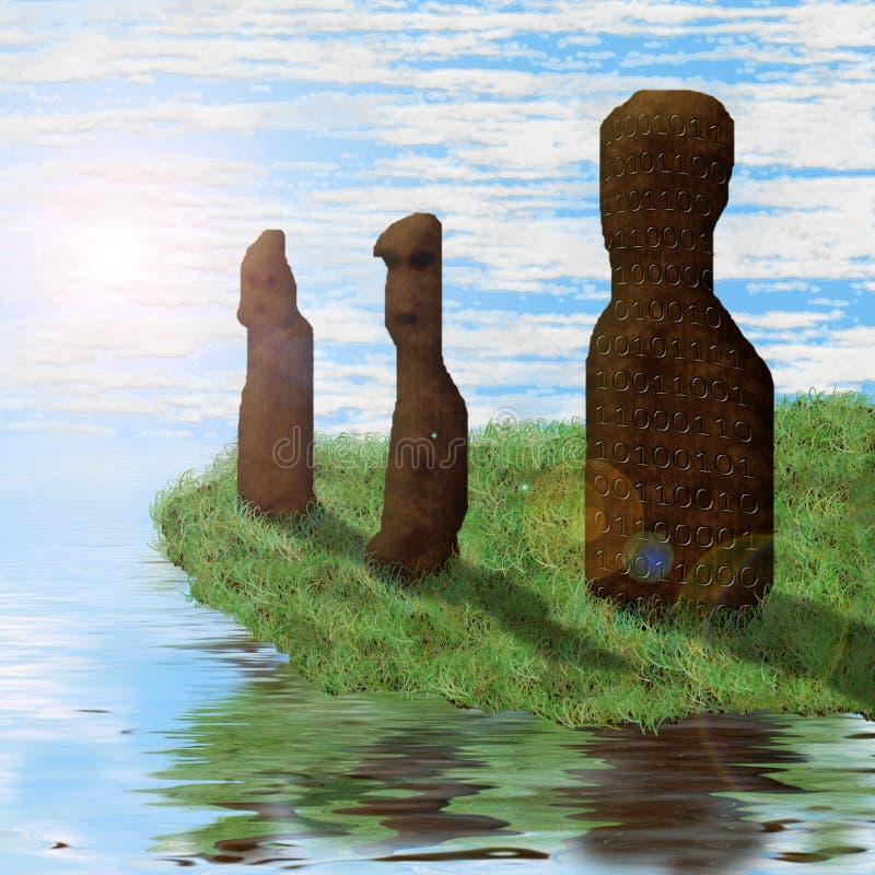 стародедовские идолы стоковые изображения