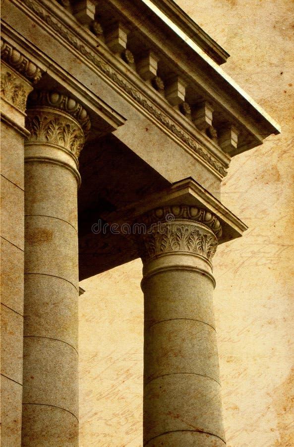 стародедовские колонки греческие стоковая фотография rf