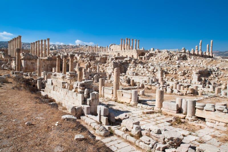стародедовские руины Иордана jerash стоковое изображение rf