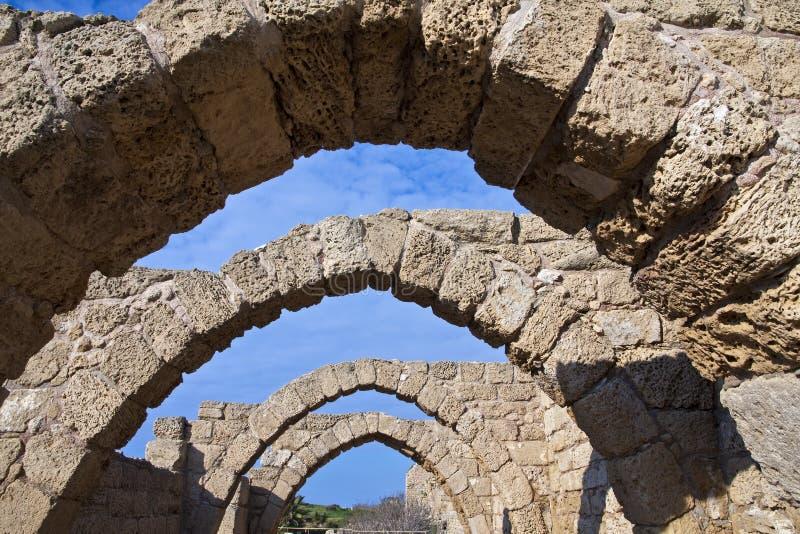 стародедовские руины caesarea стоковое фото