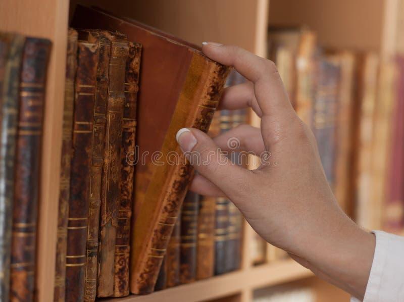 стародедовские руки книг держа женщину стоковое фото rf