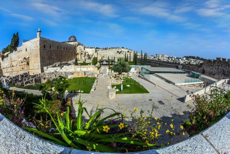 стародедовские стены Иерусалима стоковая фотография