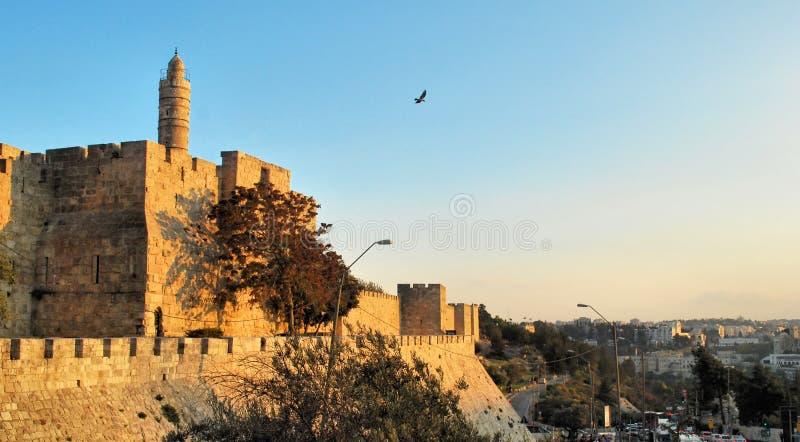 Стародедовские стены Иерусалима стоковая фотография rf