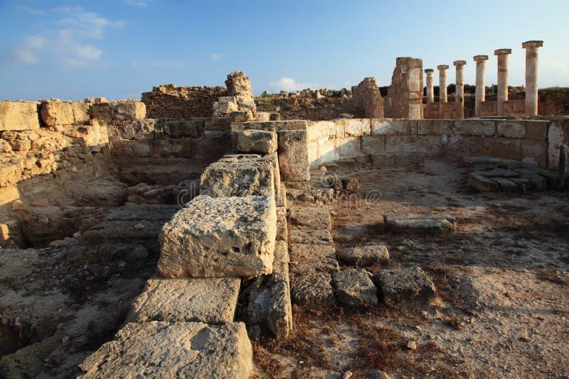 стародедовский висок руин paphos Кипра стоковое изображение
