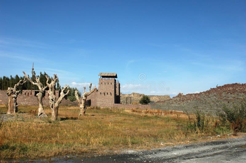 стародедовский городок sinkiang стоковая фотография rf