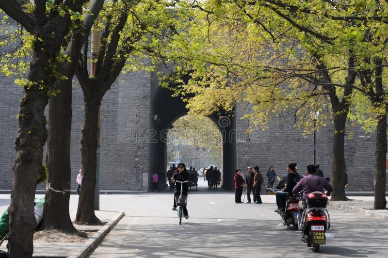 стародедовский город xian фарфора стоковое изображение