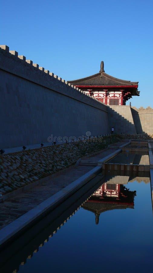 стародедовский город xian фарфора стоковые изображения
