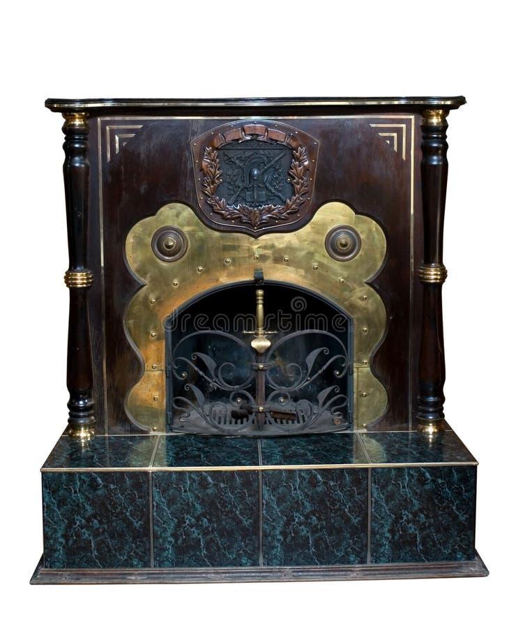 стародедовский декоративный камин стоковые изображения