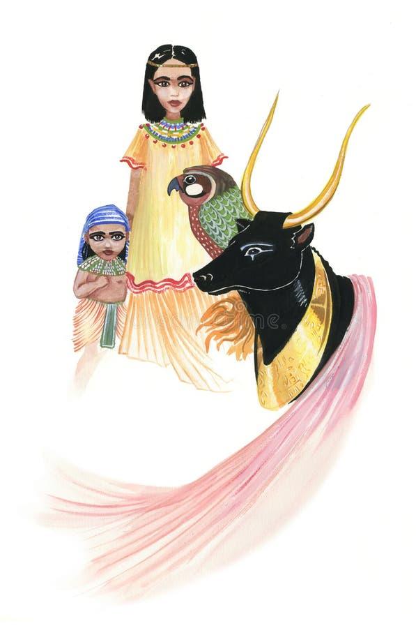 стародедовский Египет иллюстрация вектора