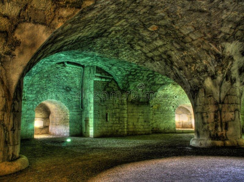 стародедовский интерьер крепости стоковые фото