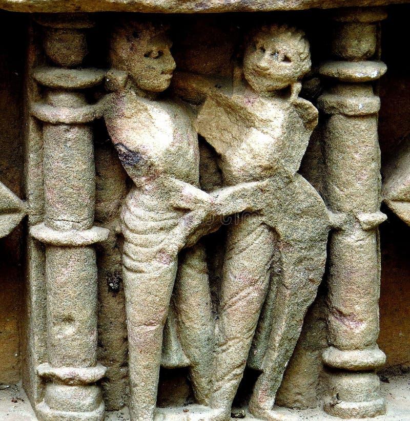 стародедовский камень carvings стоковая фотография rf