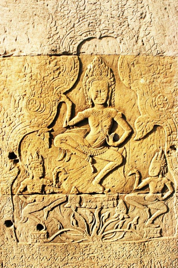 стародедовский камень khmer Камбоджи стоковое изображение