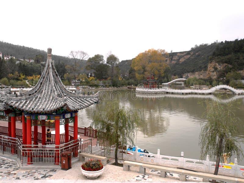 Стародедовский китайский сад стоковое изображение rf
