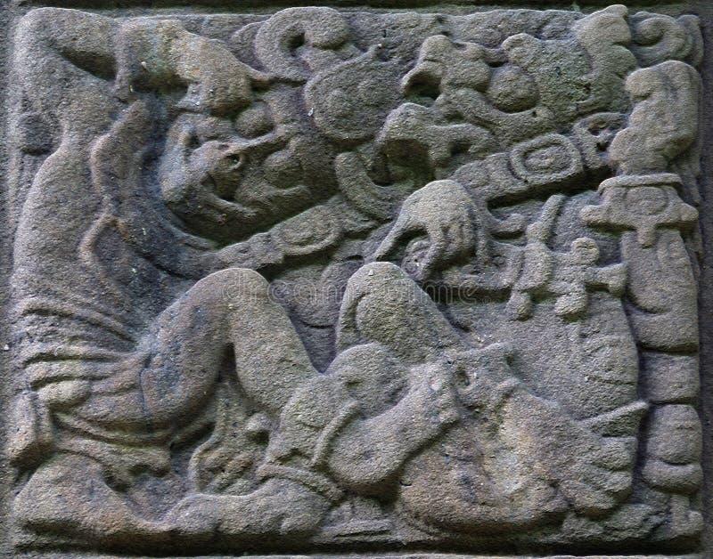 стародедовский майяский камень сбросов стоковое изображение
