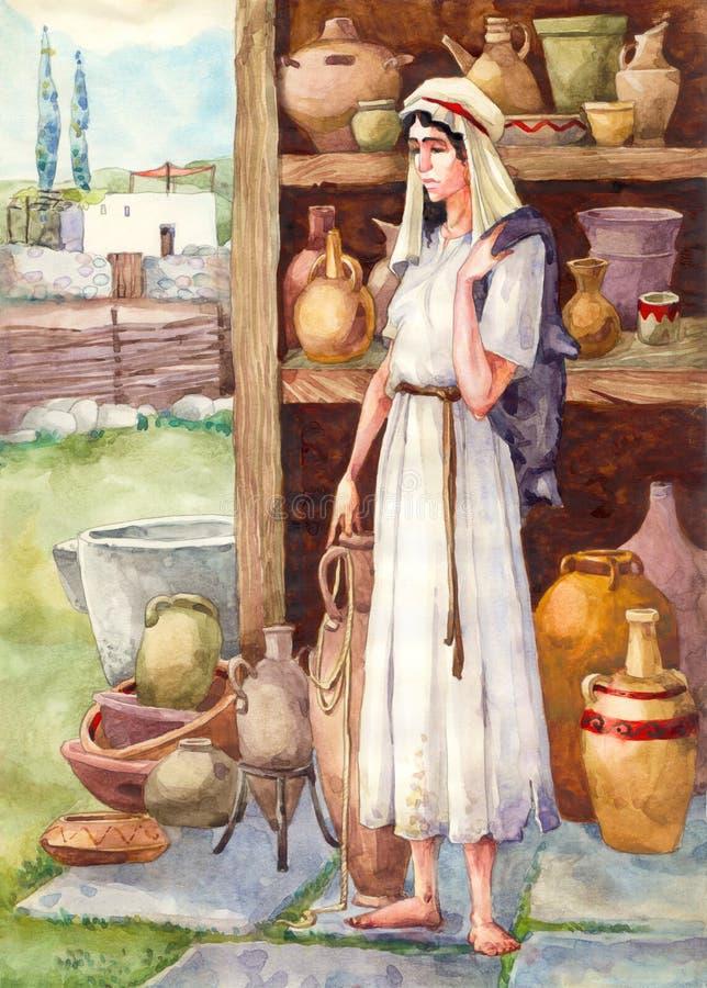стародедовский невольник Палестины иллюстрация вектора