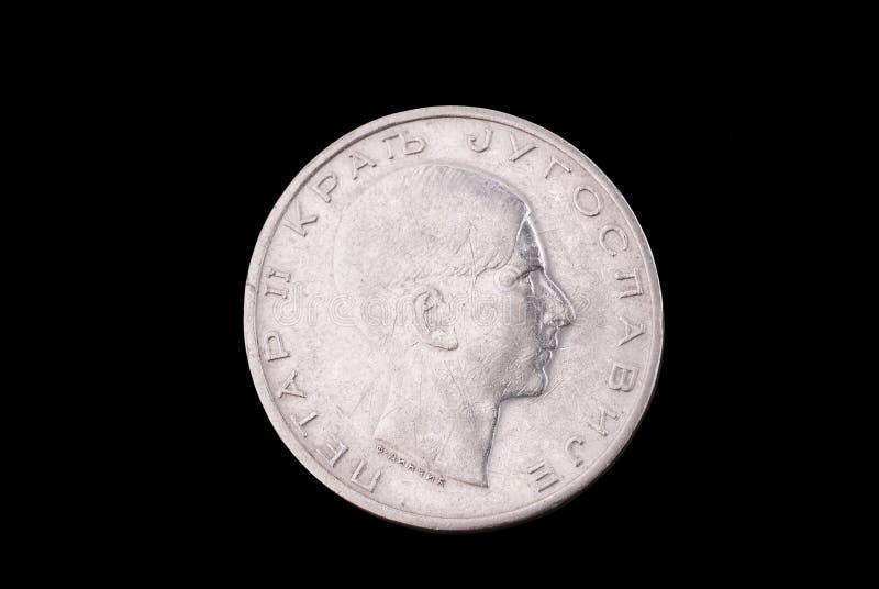стародедовский серебр Югославия королевства монетки стоковые фотографии rf