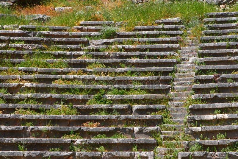 стародедовский театр delphi Греции стоковое фото rf