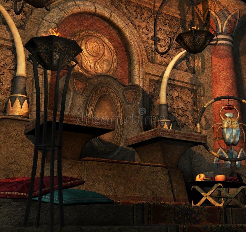 стародедовский трон комнаты бесплатная иллюстрация