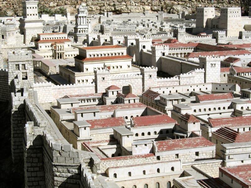 стародедовский hasmonean дворец Иерусалима модельный стоковые изображения
