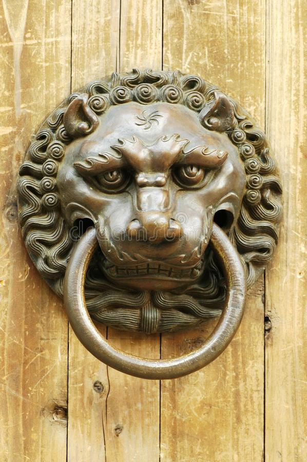 Стародедовский knocker стоковая фотография rf