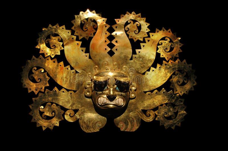 стародедовское золото сделало zaphire маски вне перуанское стоковые фото