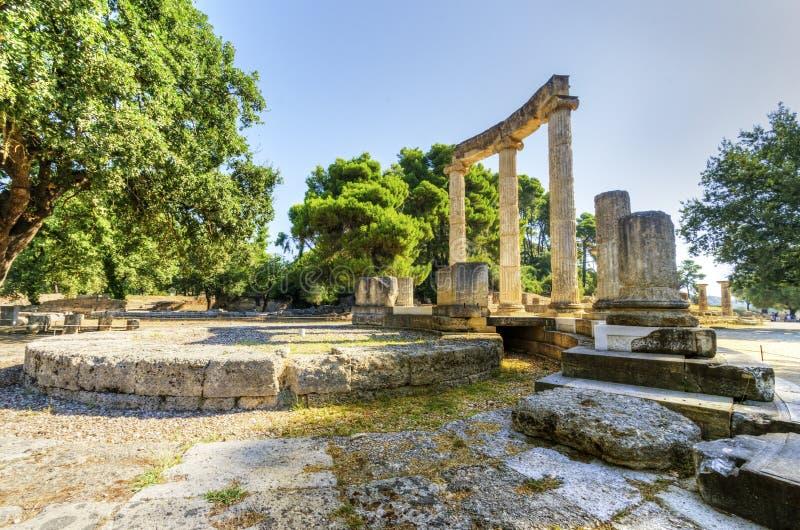 Стародедовское место Олимпии, Греции стоковые фото