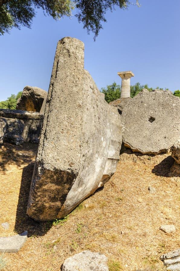 Стародедовское место Олимпии, Греции стоковые фотографии rf