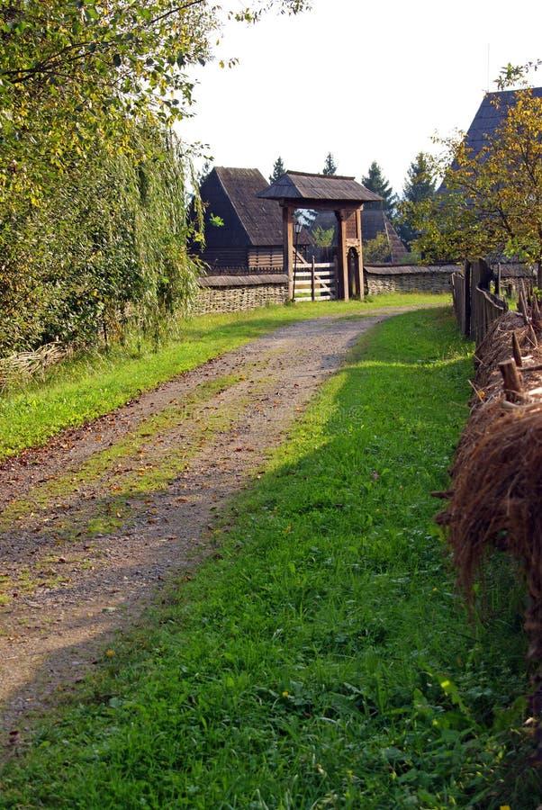 стародедовское село стоковое изображение